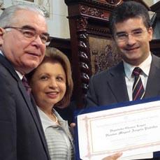 Miguel e Regina Padilha e Deputado Glauco Lopes.