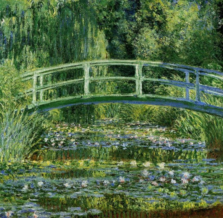 Monet The Water-Lily Pond and Bridge